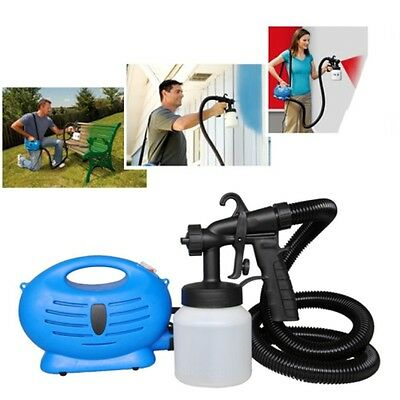 New Electric Paint Sprayer Fence Spray Gun Diy Tool Painting Indoor & Outdoor Uk