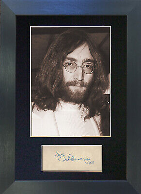 JOHN LENNON Signed Mounted Autograph Photo Prints A4 254