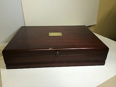 Wooden Flatware Chest Silverware Storage Box Case Silver Vintage Flatware