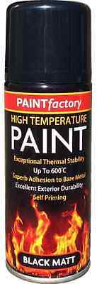 Self Primer Black Matt Spray Paint Heat Resistant & High Temperature 200ML New