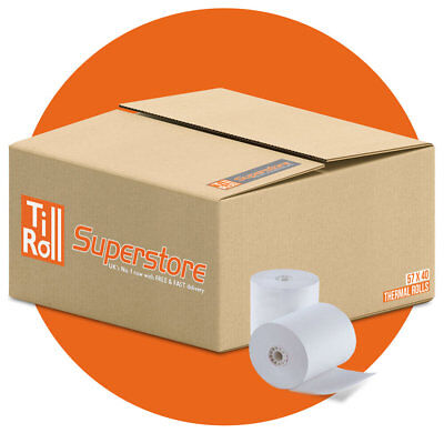 Spire SPw60 57 x 40mm Thermal Paper Till Receipt Rolls