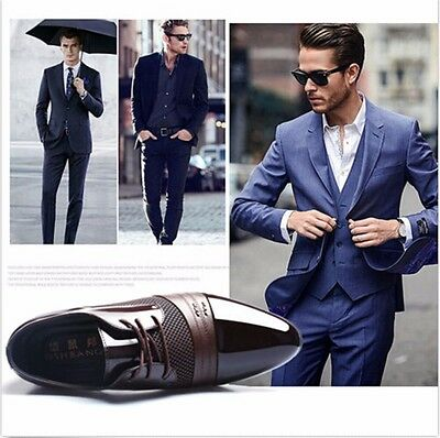 2017 Men's Dress Formal Oxfords Leather shoes Business Casual Shoes Dress