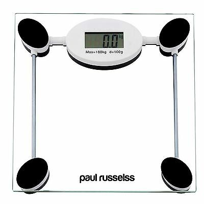 180 Kg Clear Digital Electronic Glass Lcd Bathroom Body Measuring Weight Scale