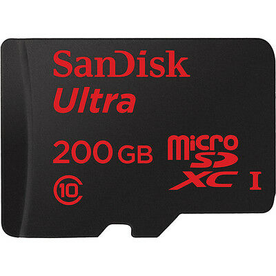 Sandisk Ultra UHS-I 200GB microSDXC Flash Memory Card with SD Adapter