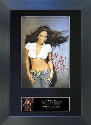 JENNIFER LOPEZ Signed Mounted Autograph Photo Prints A4 252