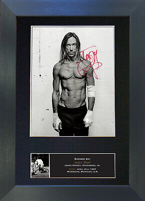 IGGY POP Signed Mounted Autograph Photo Prints A4 439