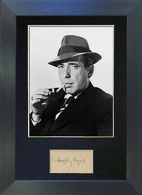HUMPHREY BOGART Signed Mounted Autograph Photo Prints A4 23