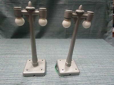 Marx Vintage Lamp Posts 2 Pcs