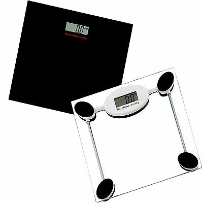 Digital Black 180kg  Electronic Bathroom Analyser Scale LCD Glass Weight Lose