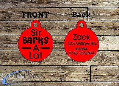 Funny Pet Tags Dog ID Sir Barks A Lot Personalized Pet Charm tag ID