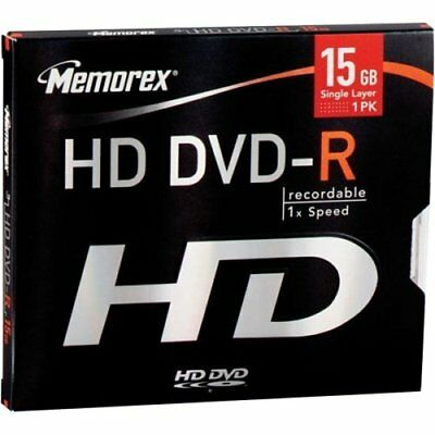 *2 for 1 Sale* Memorex (HD DVD-R) Recordable 1X Speed 15GB Blank Disc BRAND NEW
