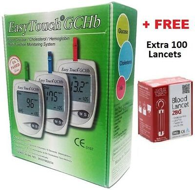 Easy Touch GCHB Blood Glucose Cholesterol Hemoglobin Test 3 in 1 Monitoring Tool
