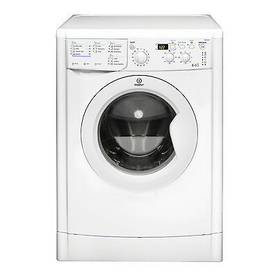 Indesit IWDD6105BECO Washer Dryer, 6kg Wash Load, 1000 RPM Spin Speed - White