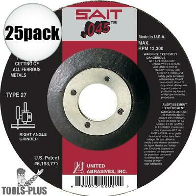 "25pk 5"" x .045"" x 7/8"" A60S Metal Cut-Off Wheel Sait 22071 New"