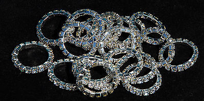 Rhinegold Single Row Crystal Plaiting Bands Mane Showing - 1 pair