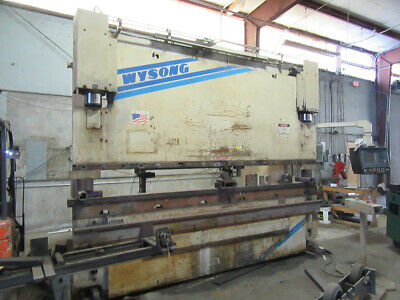 140 Ton x 12' Wysong CNC Hydraulic Press Brake  Metal Bender Crowning 2005
