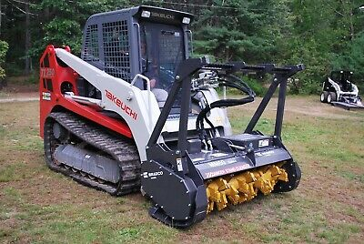 "Bradco Skid Steer Mulcher Attachment 60"" w/ teeth - Take down 8"" Trees!"