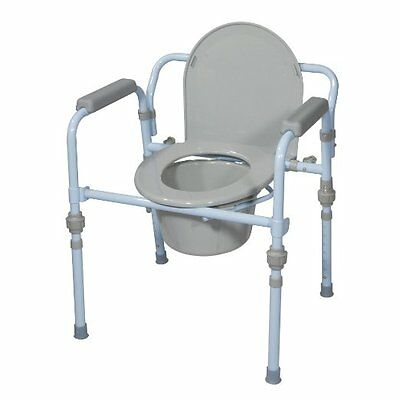 Folding Bedside Commode Disabled and Elderly Toilet Seat with Portable Bucket