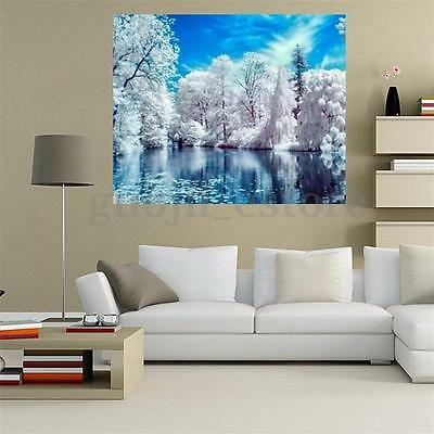 5D Snow Lake Diamond Painting Embroidery Cross Stitch Wall Decor Home Craft