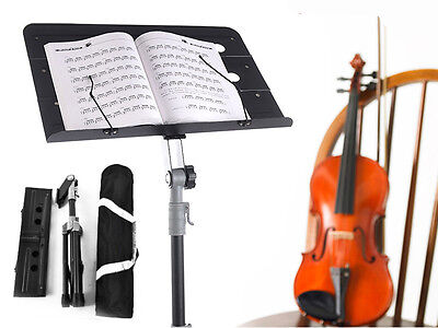 Adjustable Metal Sheet Music Stand /Carrying Bag Tripod Holder Folding Stage