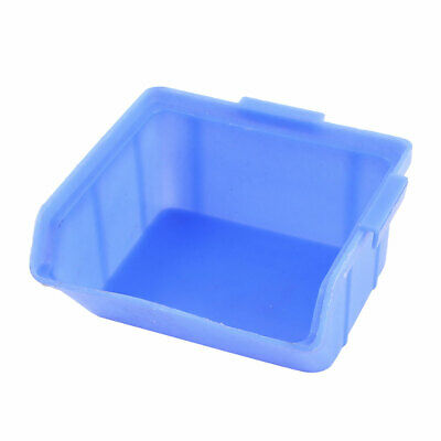 HFSL-2 Blue Opened Front Components Craft Parts Stacking Storage Bins Container
