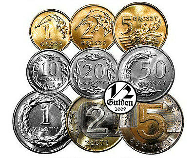 Poland Full Set Of 9 Coins Zloty 2016 Uncirculated Numishop