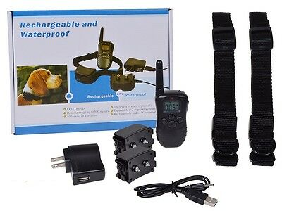 ABS Pet Supplies Rechargeable Waterproof  300M Training Tool Clickers Dog Collar
