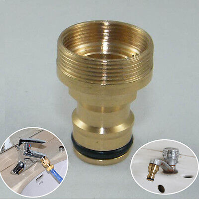 Tap Solid Brass Adaptor Garden Hose Pipe Tube Quick Connector Watering Equipment