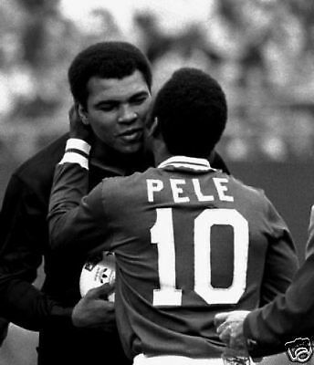 Muhammad Ali and Pele Two Sports Legends 10x8 Photo