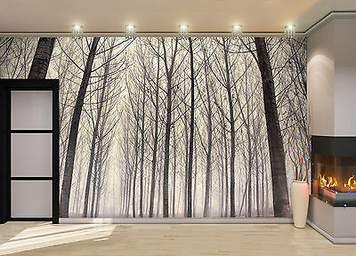 Forest in the Fog Wall Mural Photo Wallpaper GIANT DECOR Paper Poster Free Paste