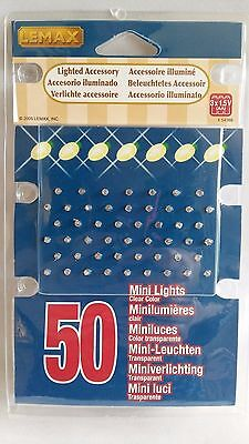 Lemax 50 Clear Mini Lights Model Railways Village War Games