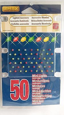 Lemax 50 Coloured Mini Lights Model Railways Village War Games