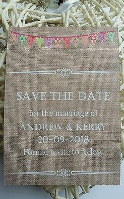 Personalised Save The Date Cards  X 50 With Envelopes  Magnetic Wedding A6