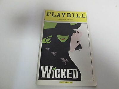 Wicked Gershwin Theatre Playbill published October 2004