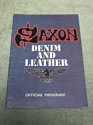SAXON Denim and Leather 1981 TOUR PROGRAMME!