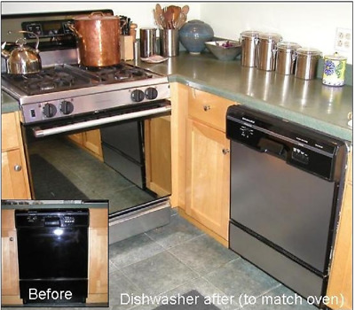 "Faux Stainless™ Film Update Dishwasher Panel 36"" W x 26"" L"
