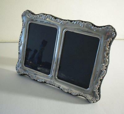 An Ornate  Silver Mounted Double Photo Frame : Sheffield 1997