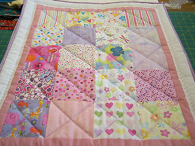 Baby Girl Patchwork Quilt Top Kit With Full Instructions, 100% Quilting Cotton