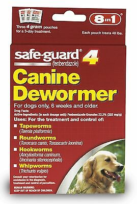 8 in 1 Safeguard 4 Canine Dewormer for Large Dogs 4gm