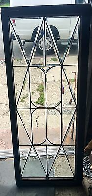 The Best American All Heavy Beveled 1920's Leaded Diamond Window  Oversized