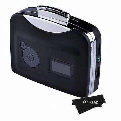 COOLEAD- Digital USB Cassette Audio Music Player and Tape-to-MP3 Converter with