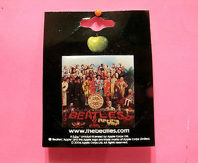 "New Official Square Beatles Button  Badge Pin Official Uk Made ""st.peppers..."""