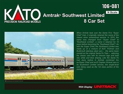 Kato N AMTRAK SW LTD 8-CAR SET KAT106081