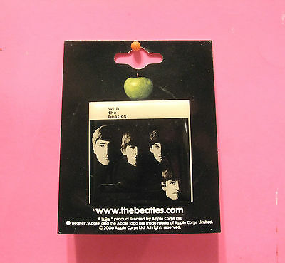 """New Official Square Beatles Button  Badge Pin Official Uk Made """"beatles"""""""