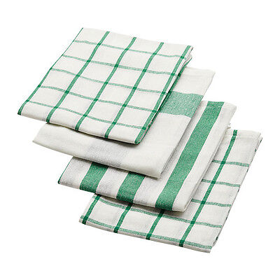 IKEA ELLY Dish Towel White And Green Color Size 20 X 26 Free Shipping !