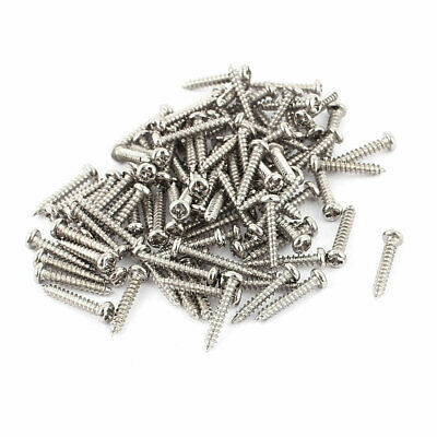 100pcs M2 x 12mm Stainless Steel Cross pan Head Self Tapping Screws Bolts