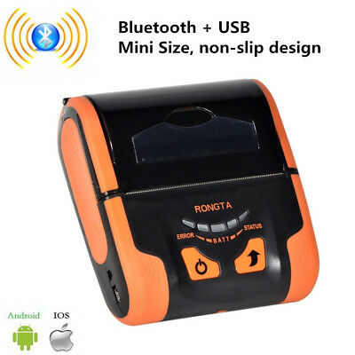Portable Mini 80mm Mobile Thermal Receipt Wireless Bluetooth Printer IOS Android