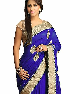 Bollywood Saree Ethnic Indian Pakistani Designer Party Wedding Sari with Blouse