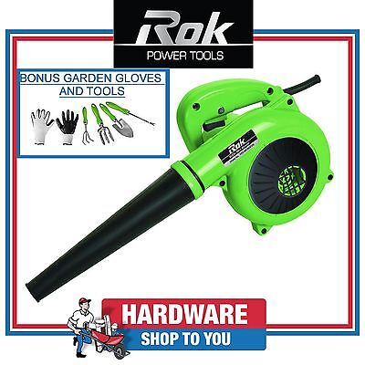 Rok 600W Mini Blower With Bonus Garden Gloves and Tools