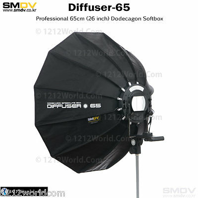 "SMDV Diffuser-S65 Professional 26"" Softbox - Speedlight Speedlite Quantum Flash"
